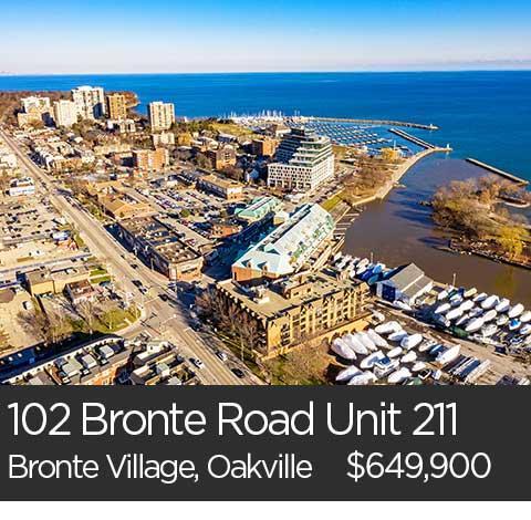 bronte village oakville condo for sale