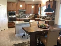 One of the model home kitchens in Stagecoach Crossing