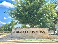 Sign at the entry to Stonewood Commons in Buda TX