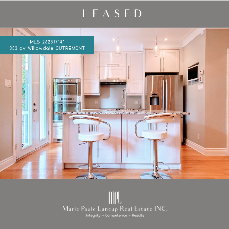 Marie Paule Lancup Real Estate Inc - 353 av Willodale OUTREMONT - Leased - Loué
