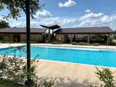 The pool at the Estancia Hill Country amenity center in South Austin.