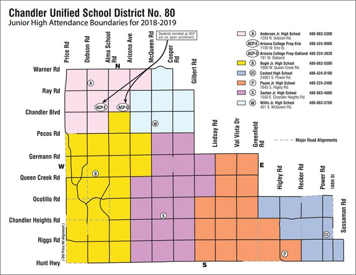 chandler jr high boundary map