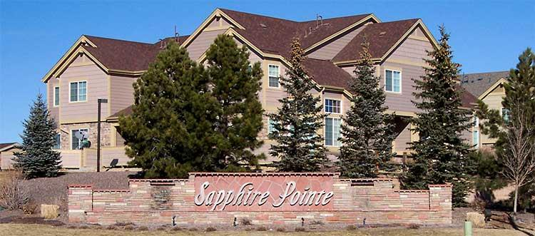 Sapphire Pointe Subdivision of Castle Rock CO
