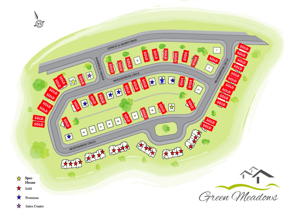 Latest map of Green Meadows