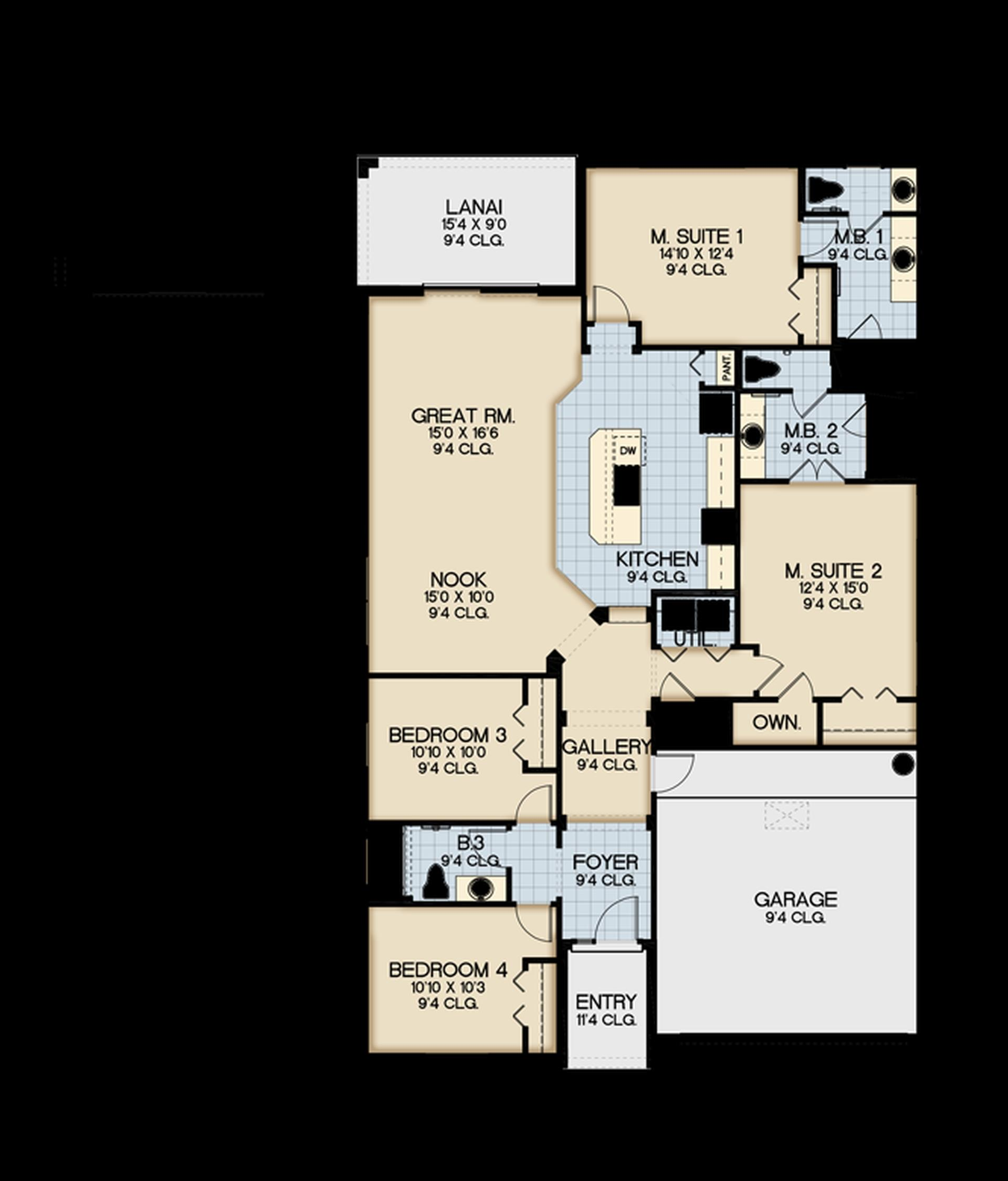 Clermont Floor Plan Bella Vida