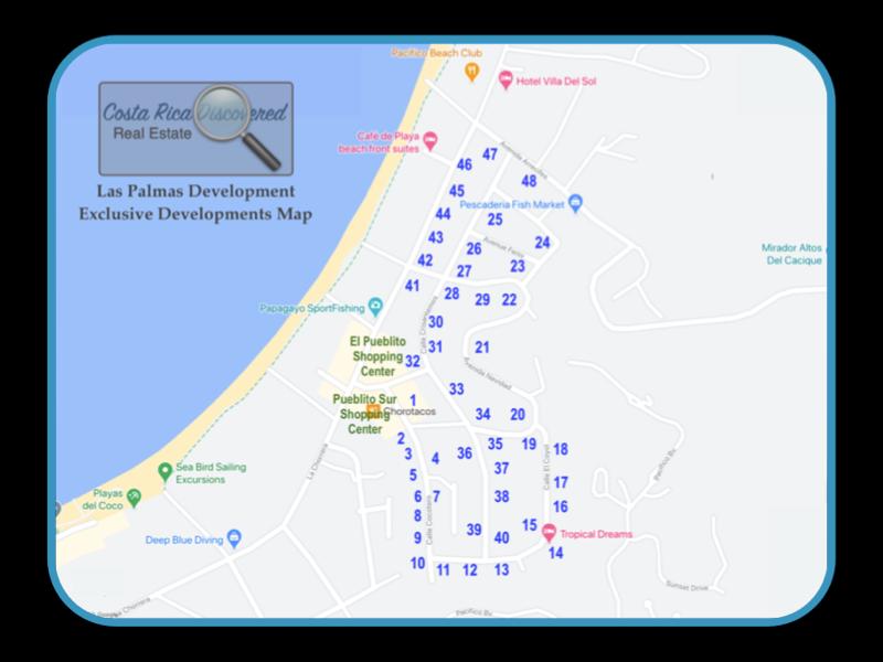 Las Palmas Exclusive Developments Map