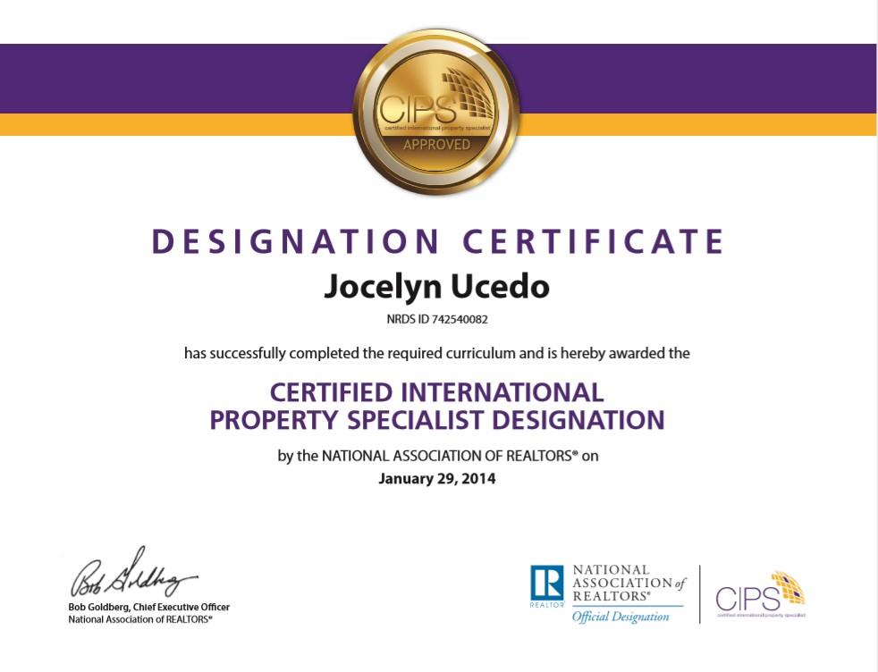 CIPS Certified International Property Specialist