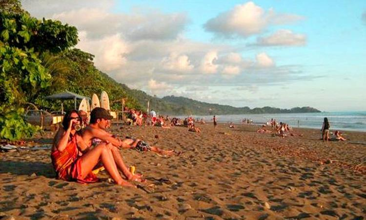 Sunset at Playa Dominical in Costa Rica