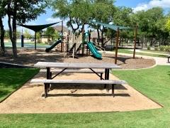 The playground area in White Oak Preserve, Buda 78610