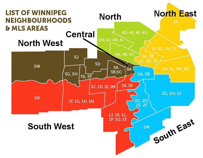 Winnipeg Neighbourhoods MLS Areas