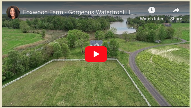 Welcome to Foxwood Farm!  21581 Montfort Road / Bushwood, MD - a Fabulous Saint Mary's County Waterfront Horse Property Listed by Marie Lally, Realtor with O'Brien Realty of Southern Maryland
