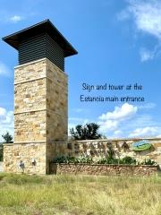 Sign at the entrance to Estancia Hill Country in South Austin.