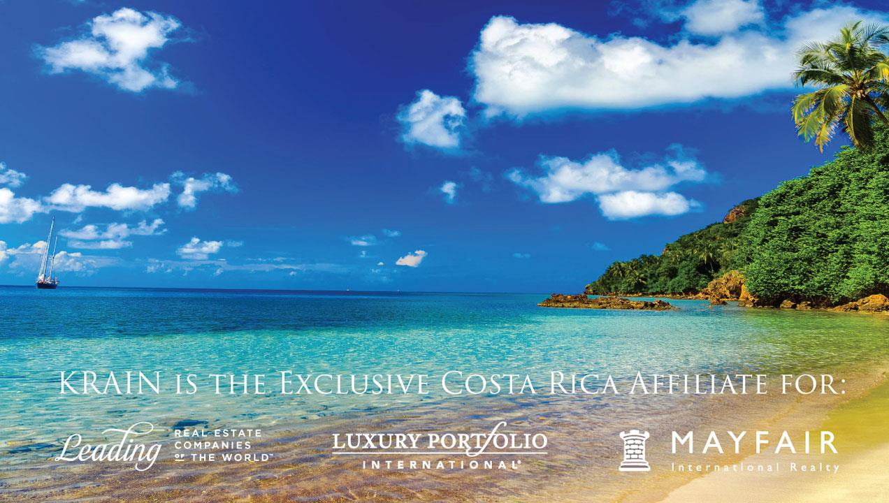 Krain is the Exclusive Costa Rica Affiliate for: Leading Real Estate Companies of the World, Luxury Portfolio International, Mayfair International Realty