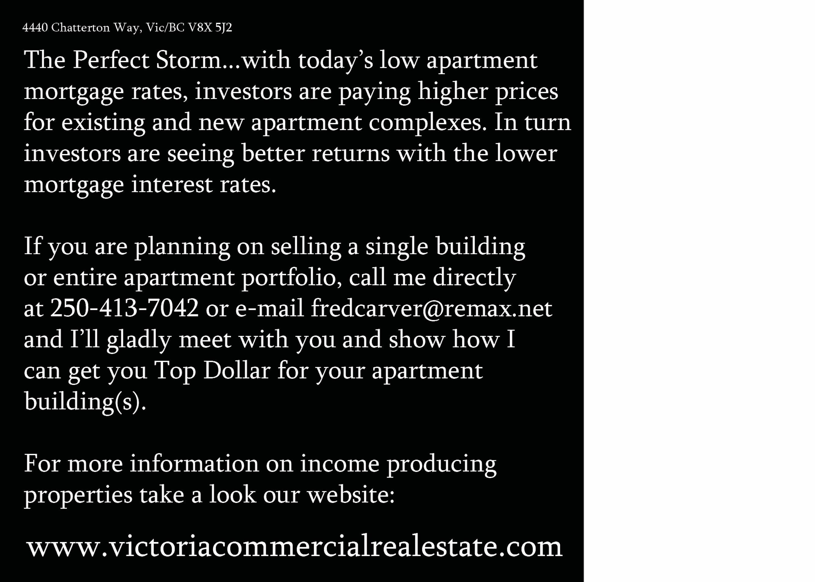 Fred Carver Sells Victoria Apartment Investments