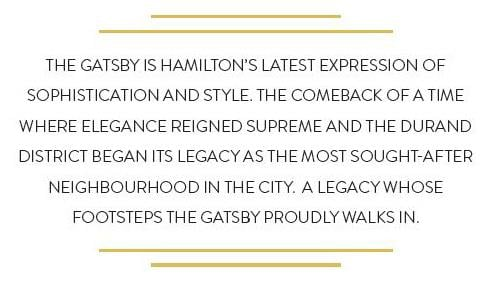 Hamilton New Condo Development at the Gatsby