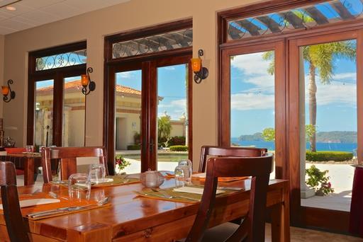 Dining room in luxury home at Hacienda del Mar Costa Rica