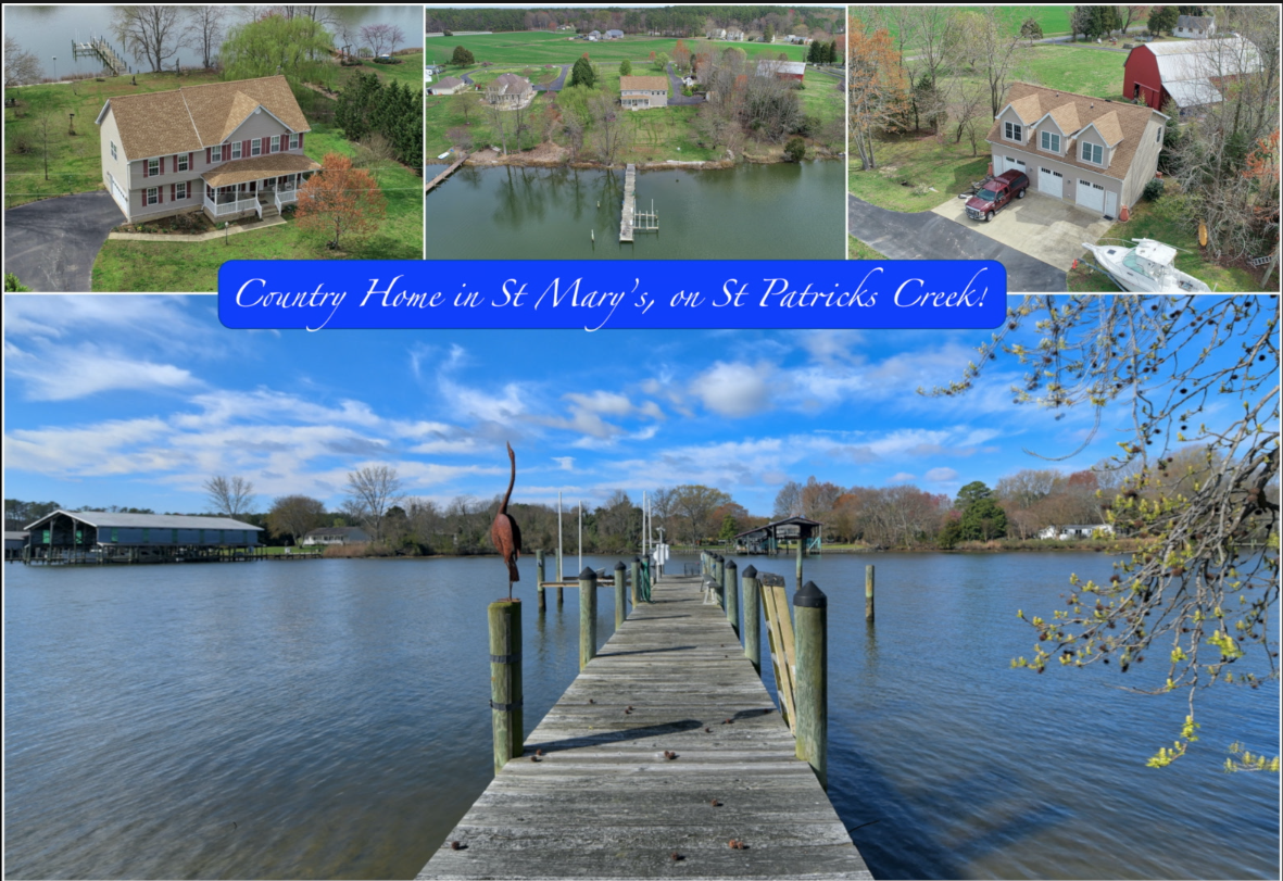 20955 Oakland Hall Rd, Avenue MD - Beautiful Waterfront Home for Sale - Listed by Marie Lally, Your Maryland Waterfront Realtor, Serving Southern Maryland