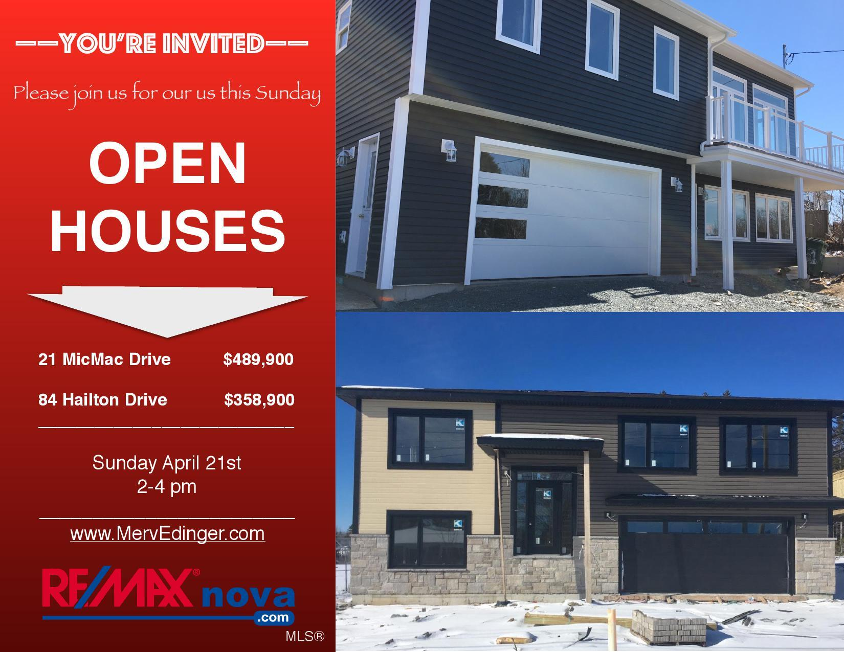 Open Houses April 21 | RE/MAX NOVA® | Halifax MLS® listings