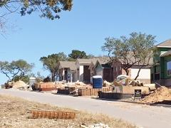 Homes under construction in the Cypress Forest, Kyle, neighborhood