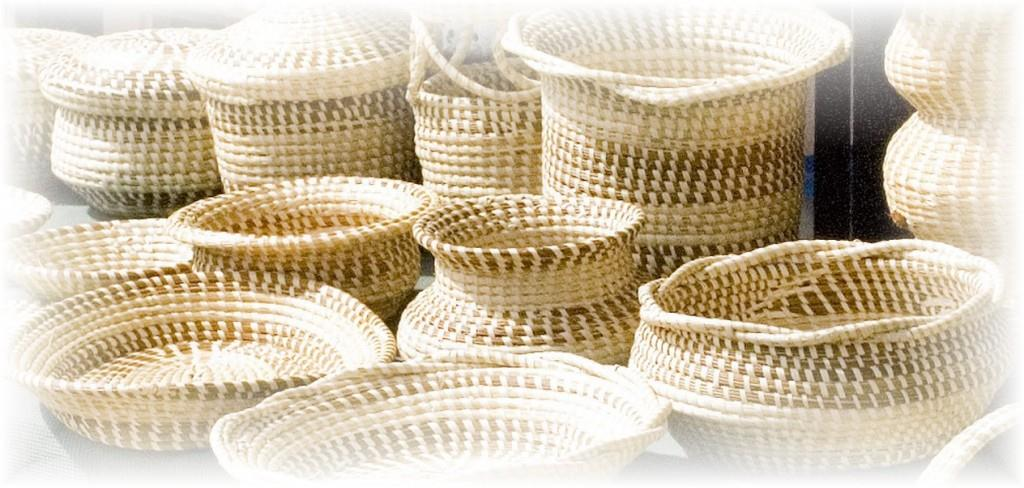 Sweetgrass baskets are sold along highway 17 North in Mount Pleasant