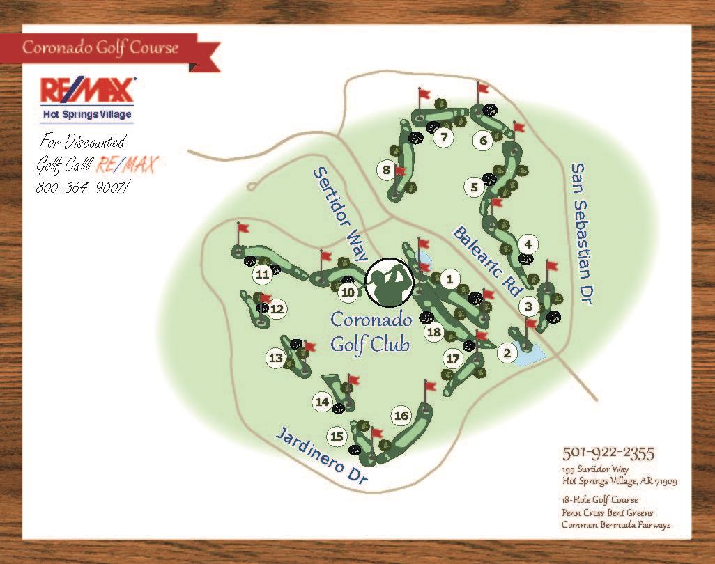 Coronado Golf Course Map