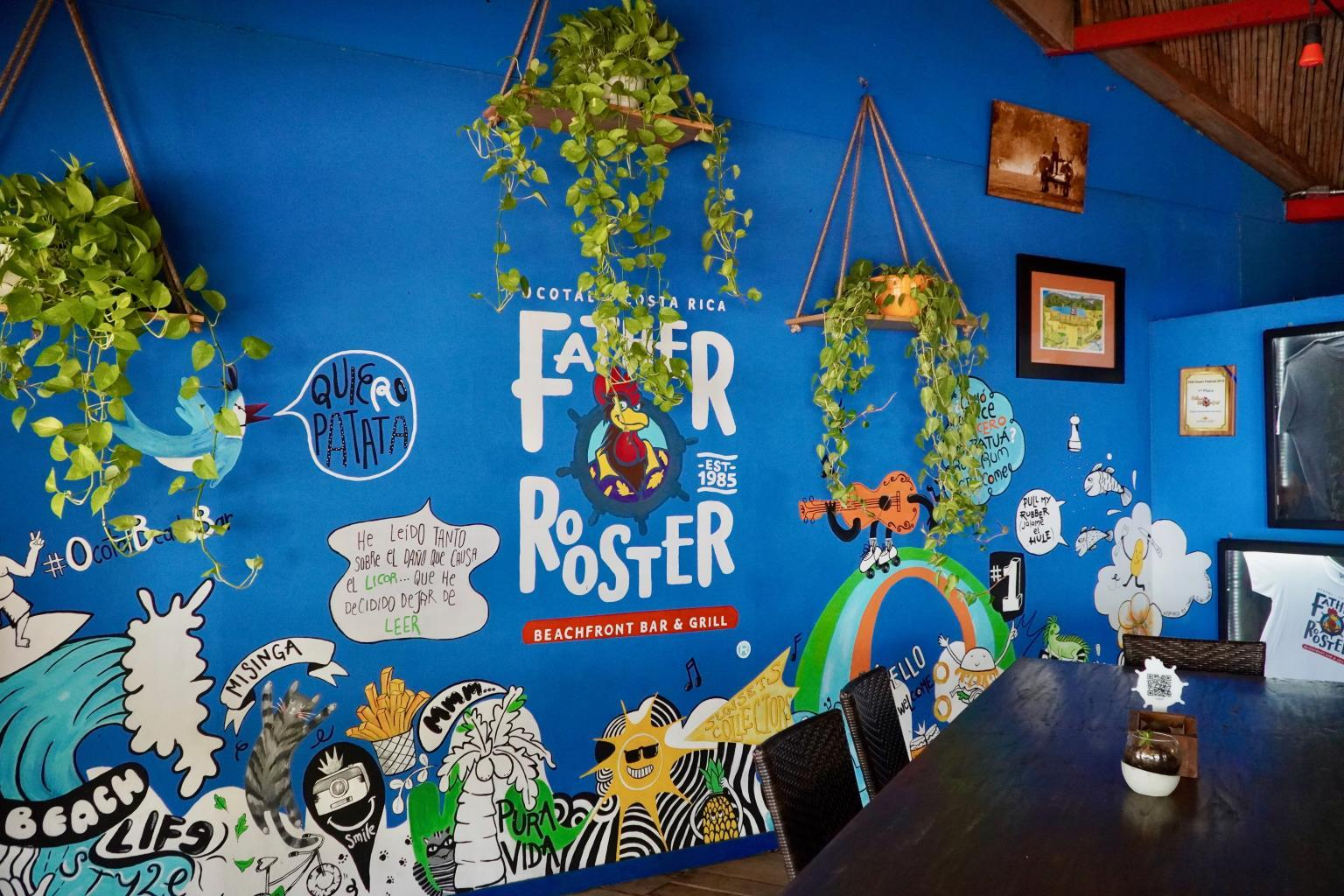 Father Rooster beach restaurant in Playa Ocotal