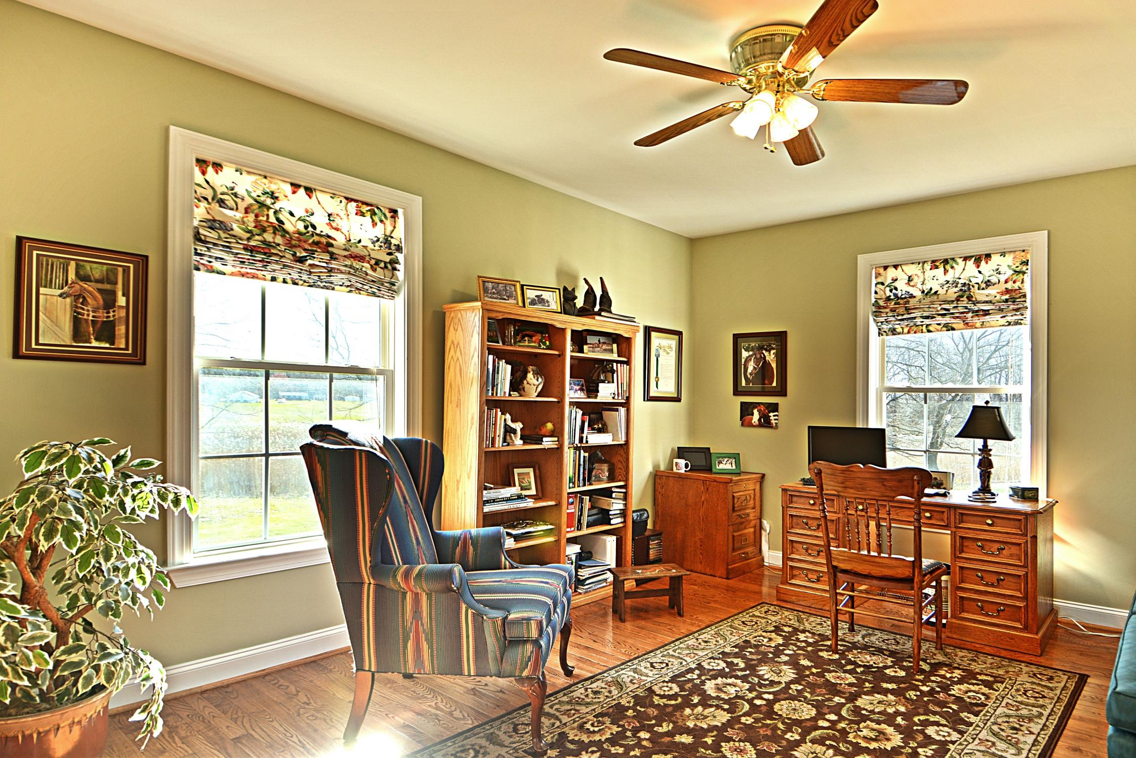 Marie Lally presents another beautiful horse property in Saint mary's county md!  Lovely library / office in this Bushwood home located at21581 Montfort Rd in Saint marys county md!