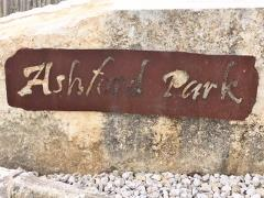 Entrance sign at the Ashford Park subdivision in Buda, 78610