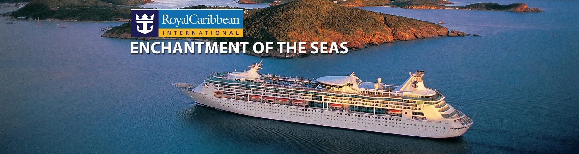 Круизный лайнер Enchantment of the Seas - вид сверху