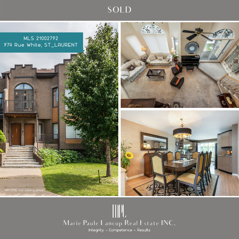 Marie Paule Lancup Real Estate Inc - VENDU SOLD - 974 Rue White ST-LAURENT