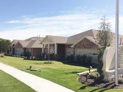 Model homes in Kyle's Cypress Forest community.