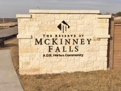 Reserve at McKinney Falls entry sign