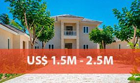 punta cana resort properties 1.5M - 2.5M