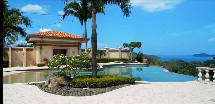 Ocean view from pool at Hacienda del Mar in Costa Rica