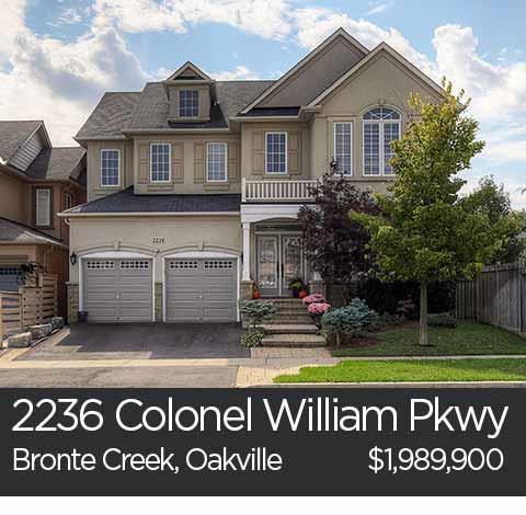 2236 colonel william pkwy bronte creek oakville home for sale