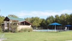 The Bunton Creek Village amenity center pool area.