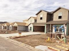 A view of new construction in The Reserve at McKinney Falls 78744