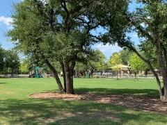White Oak Preserve residents enjoy a large park near their swim pool and play area