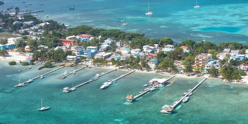 Aerial Shot: Ambergris Caye, Belize