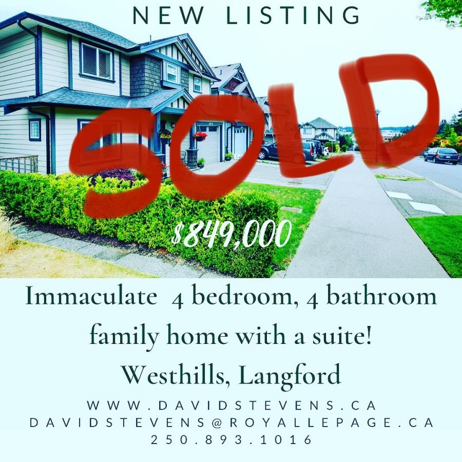 Sold in 3 days by David Stevens, Royal Le Page, Victoria