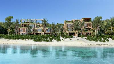 2 Bedroom PH Beachfront Condo For Sale in Tankah, Tulum