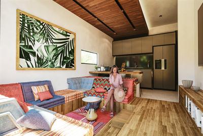 Sophisticated & Organic 2 Br. Loft Style Condo w/ Jacuzzi in La Veleta, Tulum