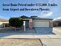 Homes for Sale in Desert Rose, Phoenix, Arizona $215,000