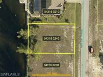 Lots and Land for Sale in Cape Coral, Florida $58,900