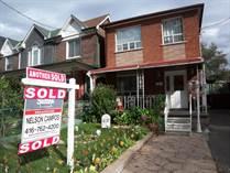 Homes Sold in Bloor/Lansdowne, Toronto, Ontario $0