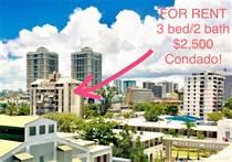 Condos for Rent/Lease in Condado, San Juan, Puerto Rico $2,000 monthly