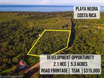 Lots and Land for Sale in Playa Negra, Guanacaste $315,000