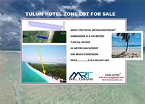 Lots and Land for Sale in Beach Tulum, Tulum, Quintana Roo $10,206,000