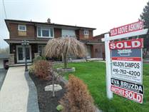 Homes Sold in Keele/Lawrence, Toronto, Ontario $1,200,000