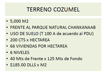 Lots and Land for Sale in Cozumel, Quintana Roo $925,000